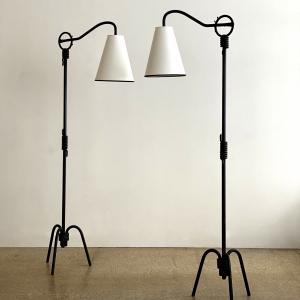 GALERIE DESPREZ BREHERET JEAN ROYERE FLOOR LAMP