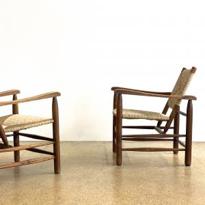 GALERIE DESPREZ BREHERET CHARLOTTE PERRIAND ARMCHAIRS