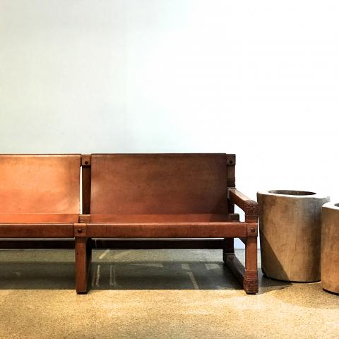 PACO MUNOZ SOFA LEATHER DESPREZ BREHERET GALERIE